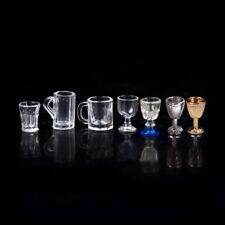 1:12 Dollhouse Miniatur Küche Glas Bier Wein Tasse Trinkflaschen 1or2X