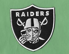 """New Oakland Raiders 'Face Off' 3 3/4 X 4"""" Inch Iron on Patch Free Shipping"""