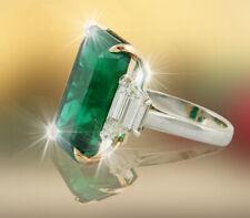GIA certified 18.83 carat emerald set along 2.08 carat of side diamonds