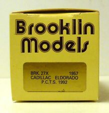 BROOKLIN 1957 CADILLAC  ELDORADO BRK. 27 X P.C.T.S. 1992  ( EMPTY BOX ONLY )
