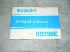 SUZUKI GS 750E Bedienungsanleitung owner's manual