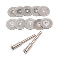 10x Diamond Cutting Disc Drill Grinding Wheel Mini Circular Saw Blade For Dremel