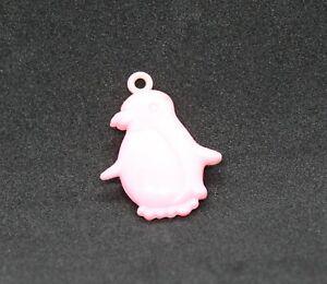 Vintage Plastic Pink Penguin Charm Cracker Jack Toy Prize