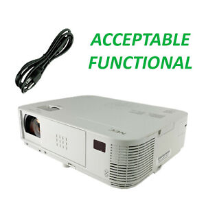 NEC M323X DLP Projector - Acceptable Functional w/Power Cable