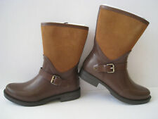 UGG SIVADA MILK CHOCOLATE LEATHER RUBBER RAIN BOOTS  WOMEN SIZE US 7 HOT NEW