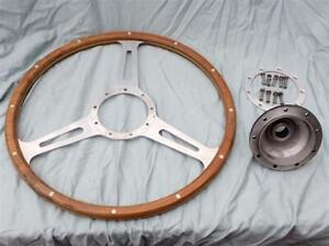 Vintage Real Wood Steering Wheel Derrington Moto Lita Real Deal 50's-60's RARE!!