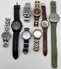 8pc Fossil Mens Watch WristWatch Lot (need batteries)