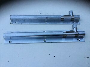 Reclaimed  Brass /.  Chrome    Strong. Door. Bolts 8 1/2 Inches  No Bolt Keeps