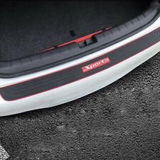 Universal Red Sport Logo Car Rear Guard Bumper Scratch Protector Cover Rubber