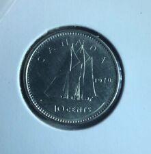 Low Mintage Canada 1970 10 Cents UNC Canadian Dime
