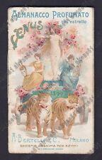 CALENDARIETTO BERTELLI 1899  VENUS - IDILLIO -  è il 1° Calendarietto Bertelli