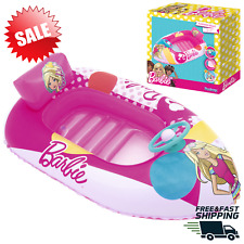 """45"""" Kids Inflatable Barbie Fashion Boat Swimming Pool Ride On Float New"""
