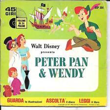 LIVRE DISQUE ITALIEN--WALT DISNEY--PETER PAN & WENDY