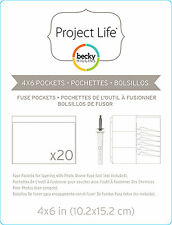 Project Life PHOTO SLEEVE 4x6 FUSE POCKETS 20-PACK scrapbooking 380509
