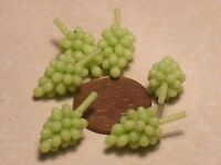 1:12 Scale 6 Bunches Of Green Grapes Dolls House Miniature Food Fruit Accessory