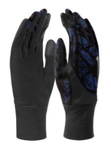 Nike Men's Printed Dri-Fit TailWind Running Gloves Game Royal /Black Size ~Large