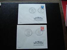 FRANCE-2 enveloppes 1er jour (le monde des philatelistes) 22/1/1966 (cy40)french