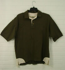 Bob Allen mens shooting hunting polo shirt RH olive green white cotton size XL