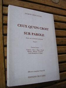J. Mercanton : Essai sur Casaova Balzac Hugo Eluard Mauriac Malraux de Gaulle