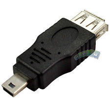 USB Type A Female to Mini B 5 Pin Male Converter Cable Adaptor Connector