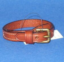NWT Polo Ralph Lauren Equestrian Brown Leather Buckle Wrist Strap Bracelet