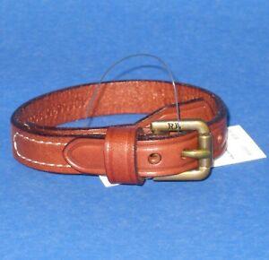 NWT Polo Ralph Lauren Equestrian Brown Leather Buckle Wrist Strap Bracelet