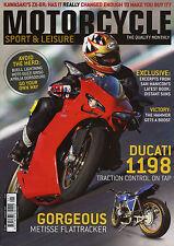 Motorcycle Sport & Leisure Jan 2009, Ducati 1198, Kawasaki ZX-6R, Metisse Flattr