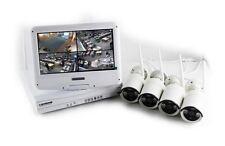 Kit videosorveglianza IP WIFI con 4 telecamere 720P 1 Mpx e monitor 10 pollici