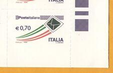 FRANCOBOLLO ITALIA REPUBBLICA POSTA ITALIANA SERIE ORDINARIA 0,70 VARIETA' NUOVO