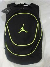NEW NIKE AIR JORDAN JUMPMAN GYM BACKPACK LAPTOP BAG BLACK/GREEN  MSRP $50 NWT