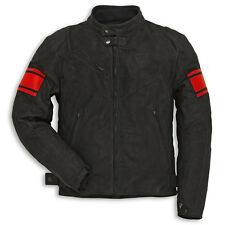 DUCATI MENS MOTORCYCLE RIDING LEATHER JACKET CLASSIC C2 SUEDE 52 FREE GIFT BAG