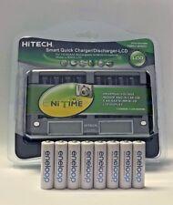 New 8 Panasonic Eneloop AA BK-3MCCE Ni-MH, 8 Bay rapid LCD smart AA/AAA charger