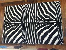 Zebra-Fellimitat, Kunstfell - Teppich 150x220 cm schwarz-weiß, eckig