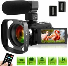 Ultra HD Video Camera Camcorder with Microphone 1080P 30FPS 24MP Vlogging Dig...