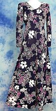MOD 60s 70s VtG BOLD FLORAL BoHo HiPPiE FESTiVAL EMPiRE HOSTESS MAXi DRESS S/M
