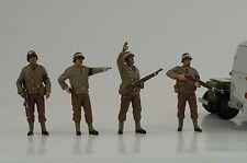 US Army Militär Police Polizei MP Set 4 Figuren 1:18 Figur American Diorama