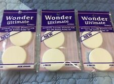 New 6 Pieces Round Wonder Ultimate Texture Sponges For All Oil Based Make-Up,