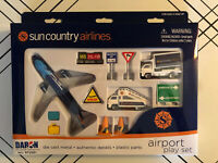 Sun Country Airlines Play Set Daron Die Cast Model Toy 737 Boeing