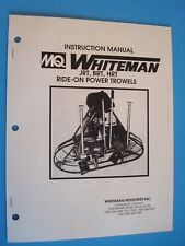 MQ Whiteman Ride-On Power Trowel JRT,BRT,HRT Instruction Manual
