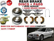 FOR BMW E36 COMPACT 323 Ti 97-00 REAR BRAKE DISC SET + PAD KIT + SENSOR + SHOES