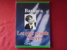 Barbara - Les plus grands Succès . Songbook Notenbuch Piano Vocal Guitar PVG