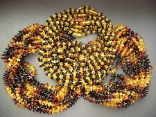 Lot 60 pcs Genuine Baltic Amber Baby Necklace Mixed Color 12.20 - 13.00 inches