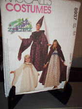 McCall's #8937 Sewing Pattern Childrens Girls Medieval Costume 5 6  Uncut FF