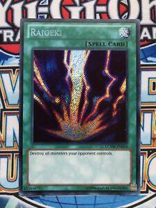 YUGIOH Card Raigeki LCYW-EN054 Secret Rare Unlimited Edition