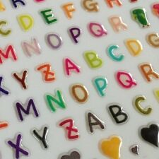 Funny Sticker Word 3D Epoxy Colored Letters Hearts Symbols Scrapbooking