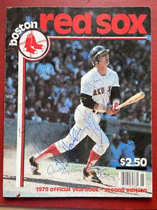 1979 Boston Red Sox **autographed** program / YAZ / JIM RICE / ECK *100% Auth