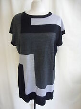 Scoop Neck Geometric Classic Sleeve Tops & Shirts for Women