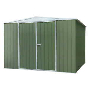 Dellonda Galvanized Steel Garden/Outdoor Shed, 10FT x 10FT, Apex Roof - Green