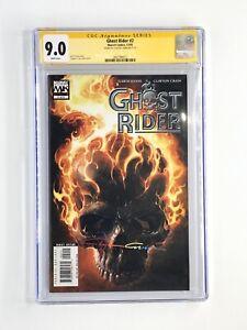 Ghost Rider #2 CGC SS 9.0 Signed Clayton Crain Infinity Signature