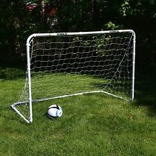 Soccer Goal For Backyard Toddlers Kids Training Play Portable Net 6x4 Steel MLS